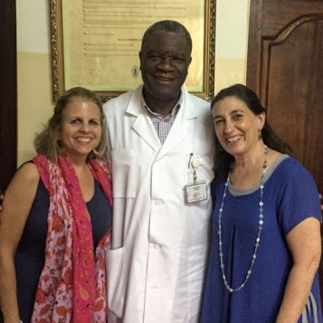 Dr. Mukwege, Tally, and Rachel
